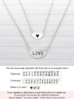 Love Half Moon Necklace