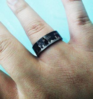 Mario Black Tungsten Ring