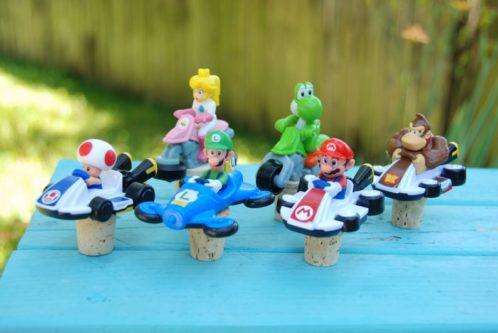 Mario Kart Wine Bottle Stoppers