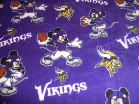 Baby fleece throw blanket featuring Mickey Mouse football