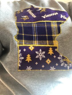 Minnesota Vikings state sweatshirt
