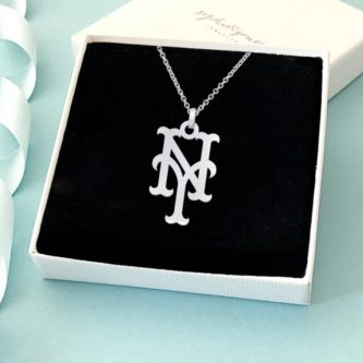 New York Mets Silver Necklace