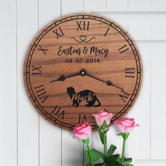 Oak ferret clock