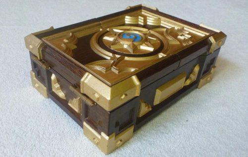 Oak Wood Hearthstone Box