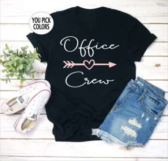 Customized office crew t shirt gift exchange gift