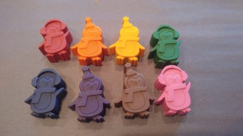 Penguin Shaped Crayons