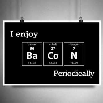 Periodic Table Bacon Print
