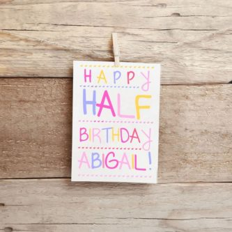 Personalized Half Birthday Card