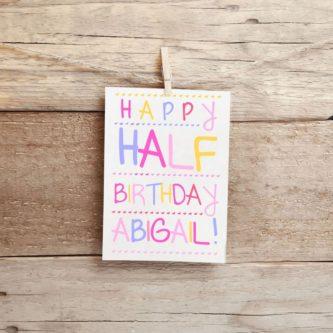 Personalized Half Birthday Card