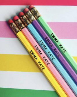kids personalized pencils set