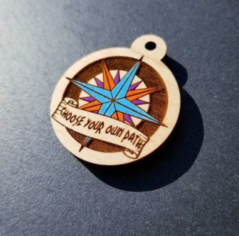 Pocahontas Compass Dog Tag