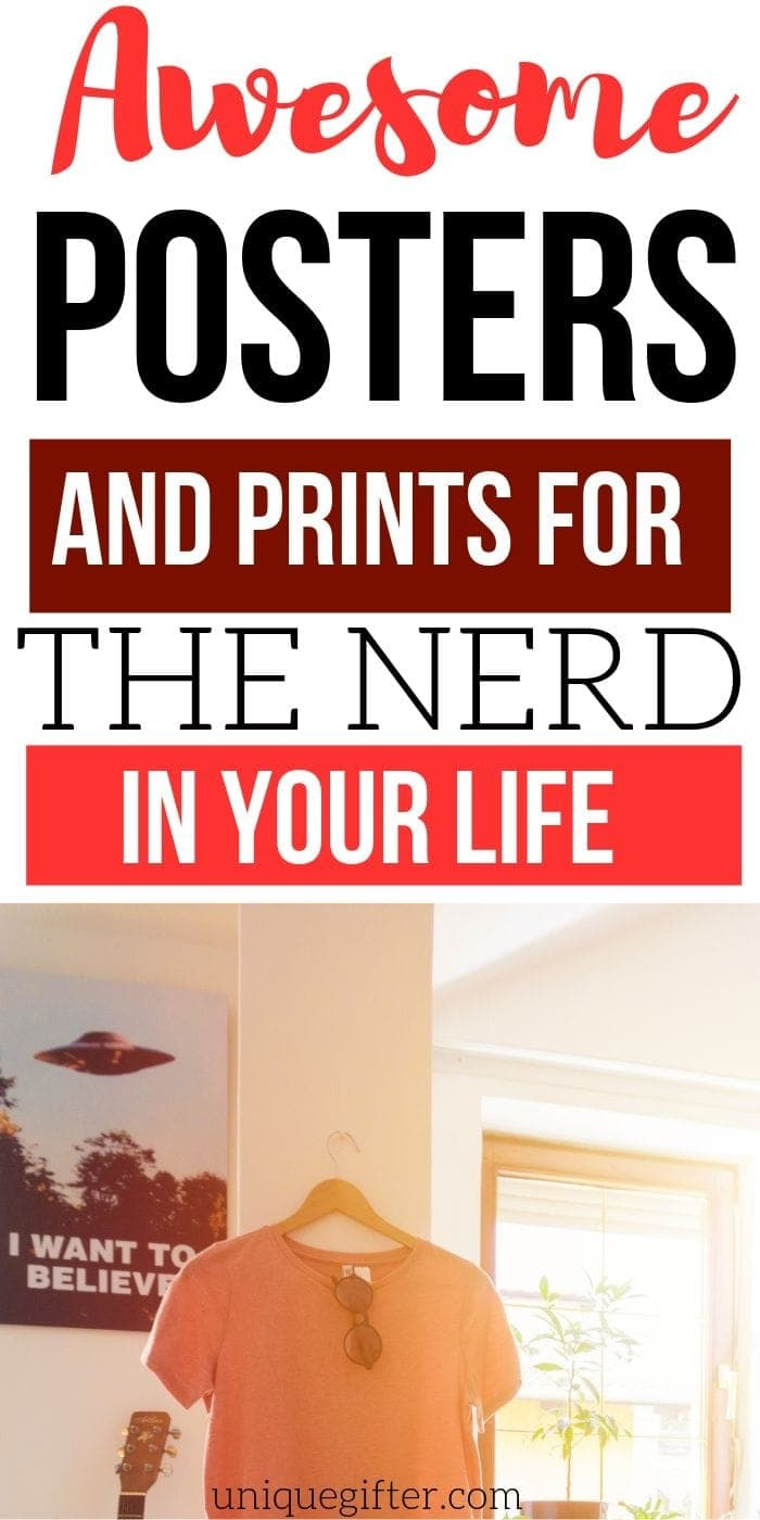 Best Prints And Posters For Nerds And Geeks | Geek And Nerd Gifts | Prints And Posters For Nerds | Awesome Prints for Geeks | #gifts #giftguide #presents #nerds #geek #uniquegifter