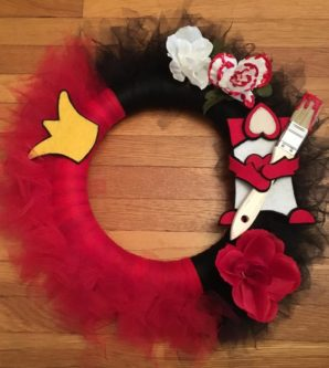 Queen of Hearts Wreath