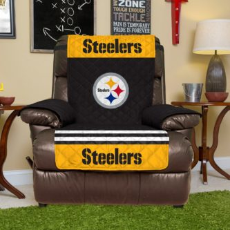 Steelers Lay-Z-Boy recliner cover with logo