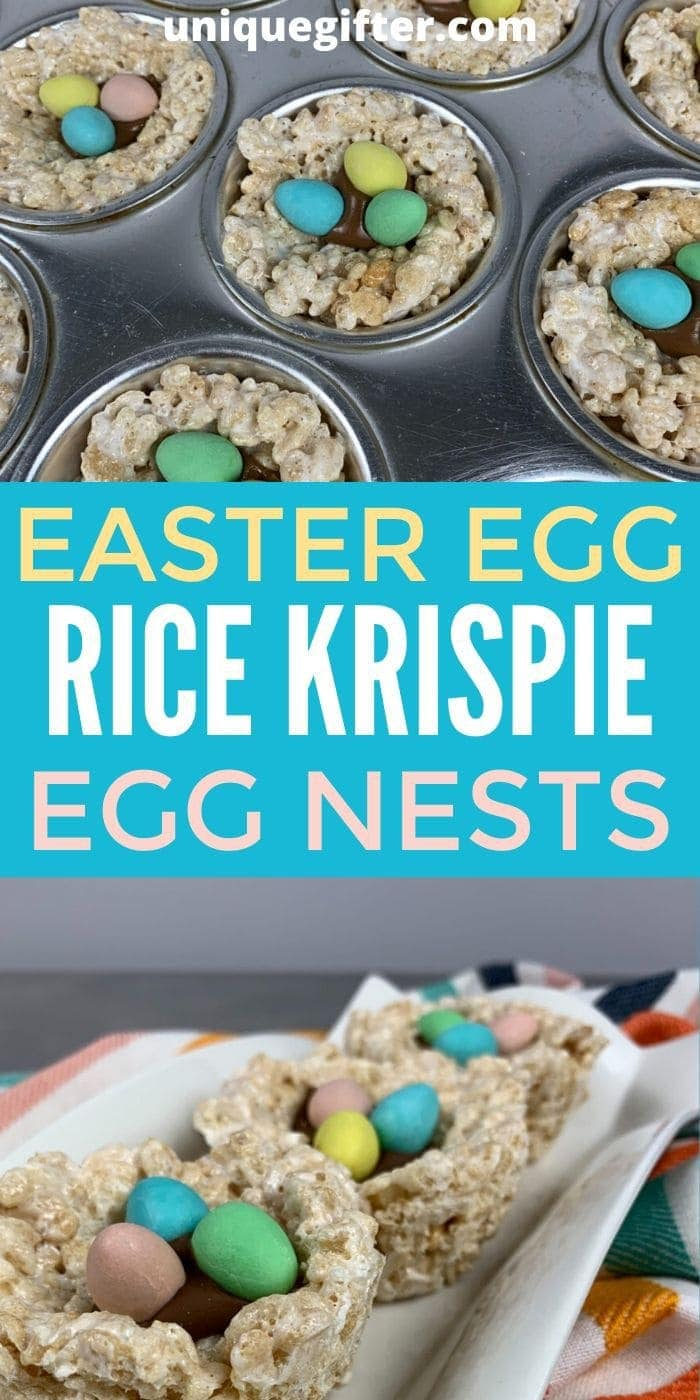 Rice Krispie Easter Egg Nests | Easter Snack Ideas | Easter Treat Ideas | Rice Krispie Dessert Ideas | Fun Easter Food | #food #easter #creative #unique #delicious #easy #simple #uniquegifter
