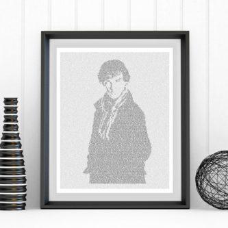 Sherlock Holmes Text Art Print