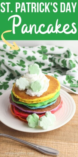 Delicious St. Patrick's Day Pancakes Recipe | Pancakes For St. Patty's | Holiday Pancakes | Fun Pancakes | Party Pancakes | #pancakes #easy #simple #stpatricksday #stpattys #unqiuegifter