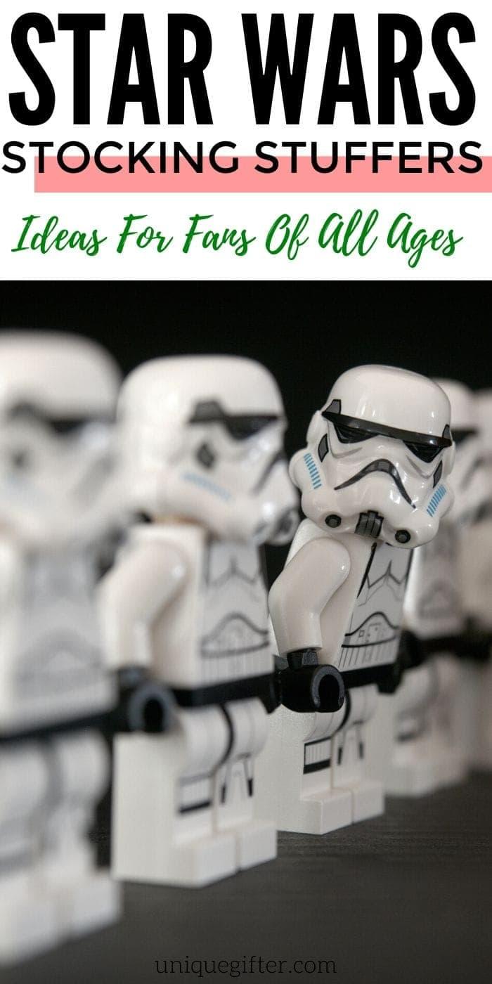 Best Star Wars Stocking Stuffer Ideas for Fans of All Ages | Star Wars Fan Gifts | Stocking Stuffers For Star Wars Fans | #gifts #giftguide #presents #starwars #uniquegifter