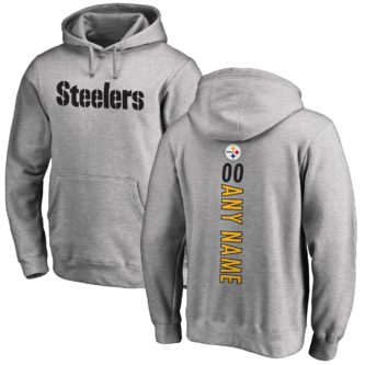 Steeler gray gameday hoodie customizable