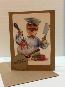 Swedish Chef Happy Birthday Card