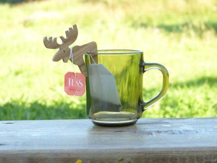 Clever moose tea bag holder gift