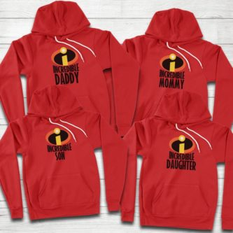 The Incredible Family Hoodies