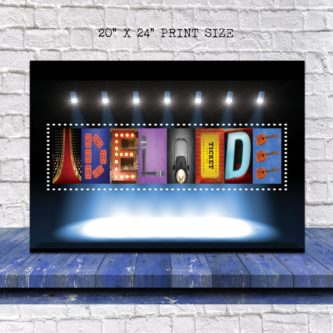 This gift ideas for a broadway/musical theatre lover would look good on any wall!