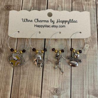 Minnesota Vikings Wine charms