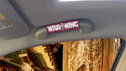 Warning Car Grip