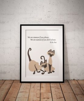 We Are Siamese Poster