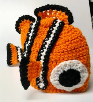 Handmade finding nemo knit plush