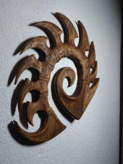 Wooden Zerg Logo (Starcraft)
