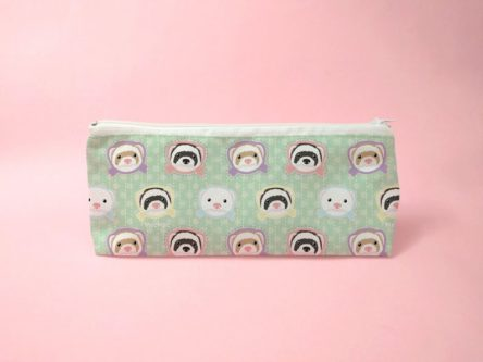 cute kawaii zippered pouch for ferret lovers