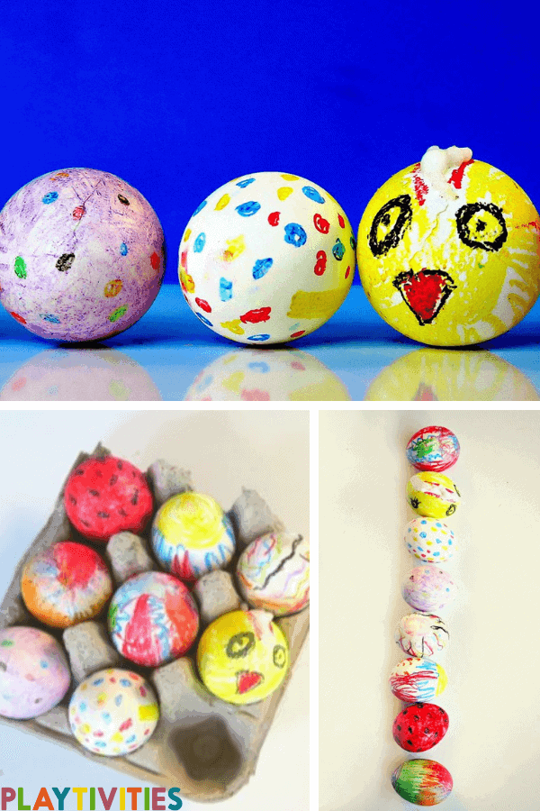 How To Dye Easter Eggs With Crayons & Have Fun with It
