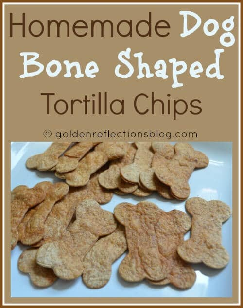 Homemade Dog Bone Shaped Tortilla Chips for Girl's Puppy Dog Birthday Party