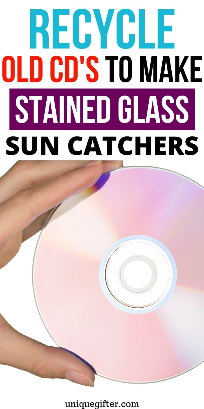 How to Recycle CDs to Make Stained Glass Sun Catchers | Easy Craft Idea | Craft For Adults | Recycled Craft Idea | Craft Idea For Kids | #gifts #craft #creative #cd #recyle #uniquegifter