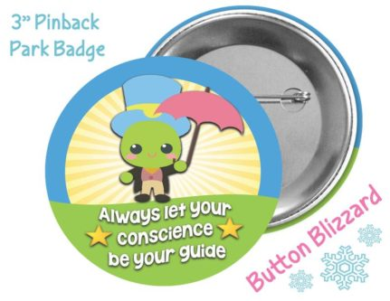 """Always Let Your Conscience Be Your Guide"" Button"