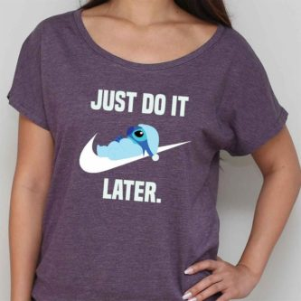 """Just Do It Later"" Stitch T-Shirt"