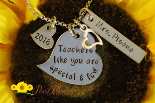 """""""Teachers like you are special & few"""" Necklace"""