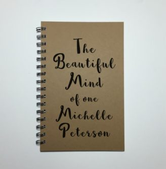 """""""The beautiful mind of one ______"""" Personalized Notebook"""
