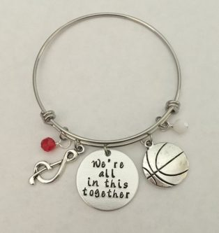 """""""We're All In This Together"""" Charm Bracelet"""