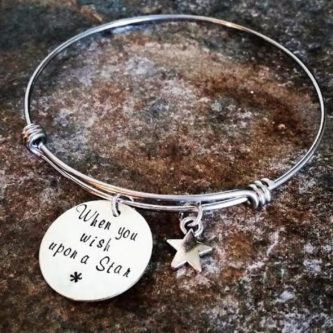 """When You Wish Upon A Star"" Bangle Bracelet"