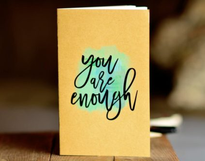 """You are enough"" Watercolor Notebook"