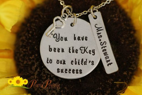"""""""You have been the key to our child's success"""" Necklace"""