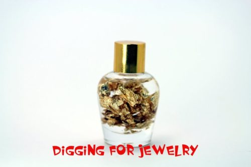 24K Gold Flakes in 1oz Miner's Assay Bottle