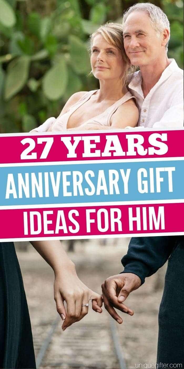 Best 27 Year Anniversary Gift Ideas for Him | Anniversary Gifts For Your Hubby | Gifts For Your Husband | Creative Anniversary Presents | Creative Gifts For Your Hubby | #anniversary #gifts #giftguide #husband #forhim #uniquegifter