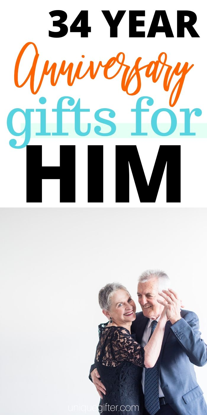 Best 34 Year Anniversary Gifts for Him | Anniversary Gifts For Your Husband | Wedding Anniversary Gifts | Presents For Your Husband | Celebrating Your Anniversary Gifts | #gifts #giftguide #presents #anniversary #34th #uniquegifter