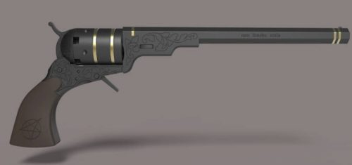 3D printed replica of Winchester brothers colt revolver