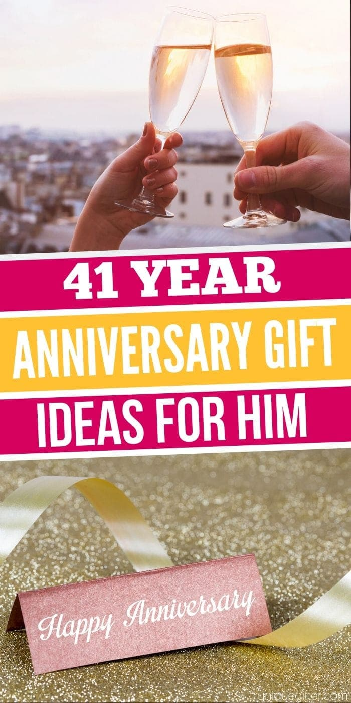 Best 41 Year Anniversary Gift Idea for Him | 41st Wedding Anniversary | Anniversary Gifts | Creative Wedding Anniversary Gifts | #gifts #giftguide #presents #wedding #uniquegifter