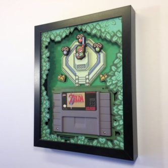 A Link To the Past Cartridge Shadow Box
